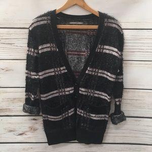 Rubbish Plaid Sweater Cardigan Sz XS